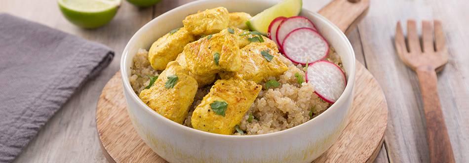 Receita Frango Tandoori com Salada de Quinoa | Cooking Classes