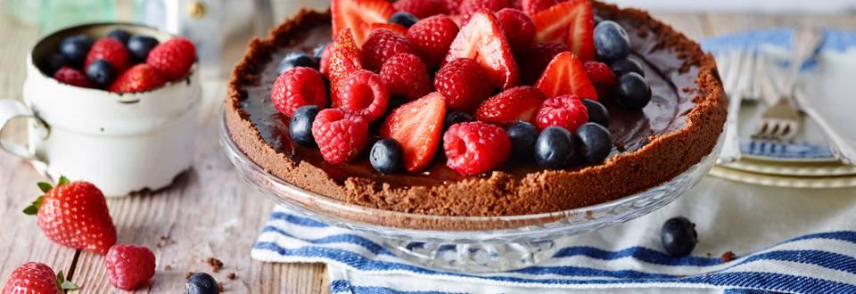 Receita Vegetariana - Tarte de Chocolate e Café Expresso