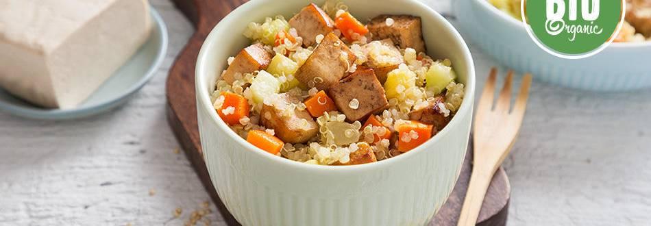 Receita Bio   Salada de Quinoa, Legumes e Tofu