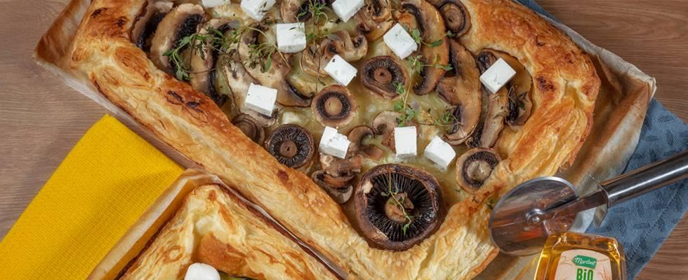 Tarte Folhada de Cogumelos e Feta